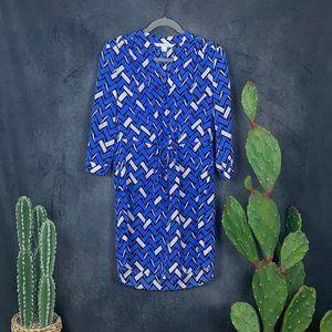 Diane Von Furstenberg Freya 100% Silk Dress 6 Blue